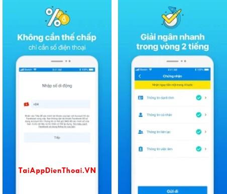 app dễ vay