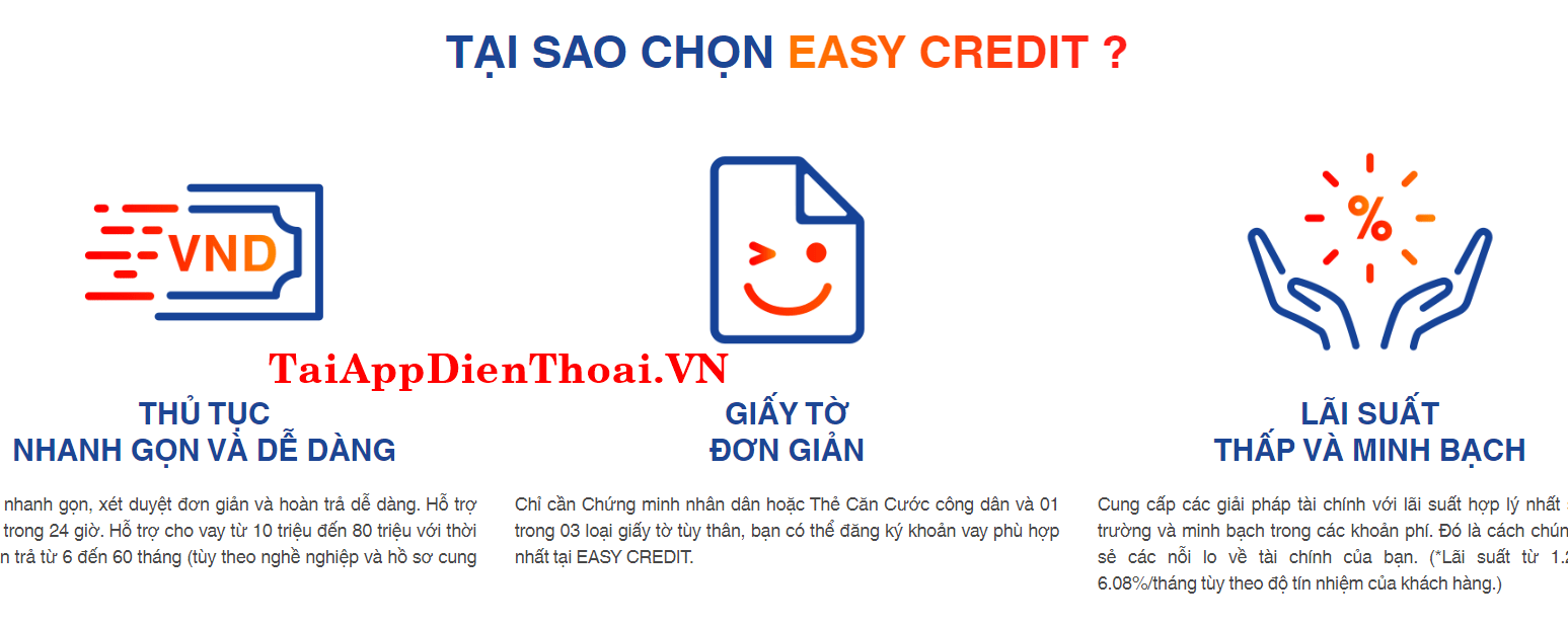 thanh toán easy credit