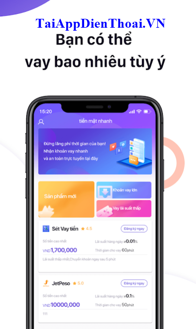 app tiền mặt nhanh ios apk