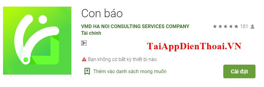 app con báo
